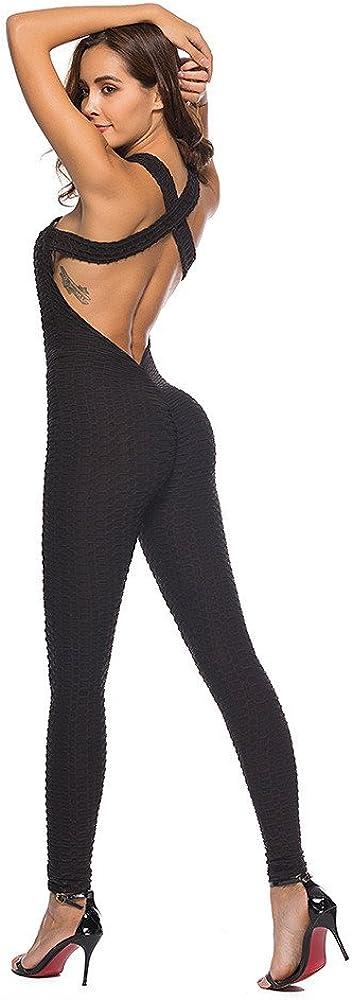 LISTHA Sport Yoga Jumpsuit Women Keyhole Romper Workout Gym Running Leggings