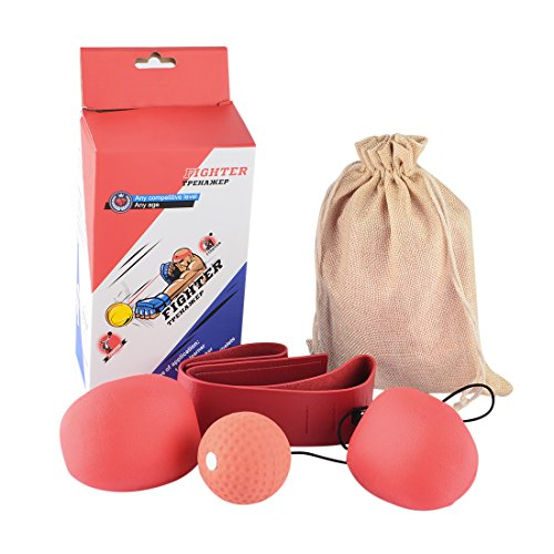 Fight Ball Reflex, Yamix Boxing Ball Punching Training Ball Punch Exercise for Boxing Reactivity Awareness Training Home Fitness Ball (Adult/Teenager/Child)