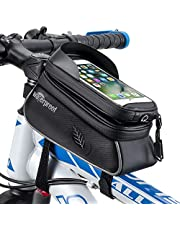 """WOTOW Bicycle Phone Mount Bags, Waterproof Bike Front Frame Top Tube Handlebar MTB Cycling Bag with TPU Touch Screen Cell Phone Holder, Fits for iphone7 8 Plus/XR/Xs燤ax Samsung Huawei Up to 6.6"""""""