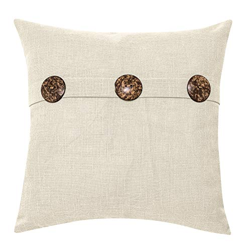 Better Homes & Gardens Feather Filled Three Button Decorative Throw Pillow, 20