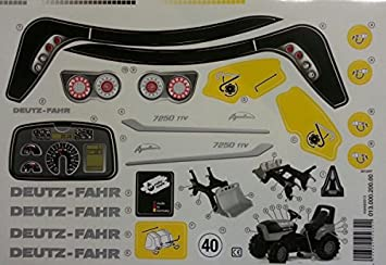 Aufkleber Agrotron 7250 Ttv Amazonde Spielzeug
