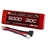 Venom 30C 2S 5000mAh 7.4V Hard Case LiPo Battery ROAR Approved with Universal Plug (EC3/Deans/Traxxas/Tamiya)