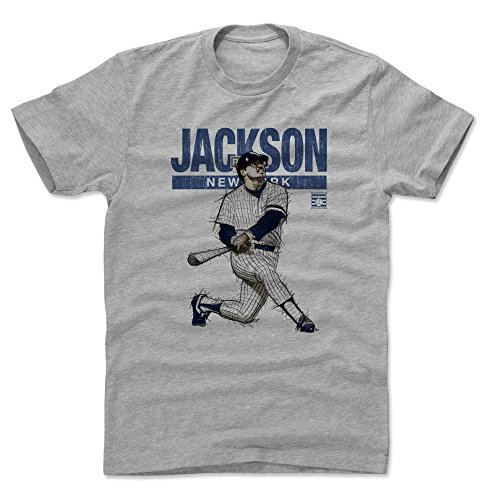 500 LEVEL Reggie Jackson Cotton Shirt (X-Large, Heather Gray) York Yankees Men's Apparel - Reggie Jackson Mr. October York (Jackson Reggie Shirts)