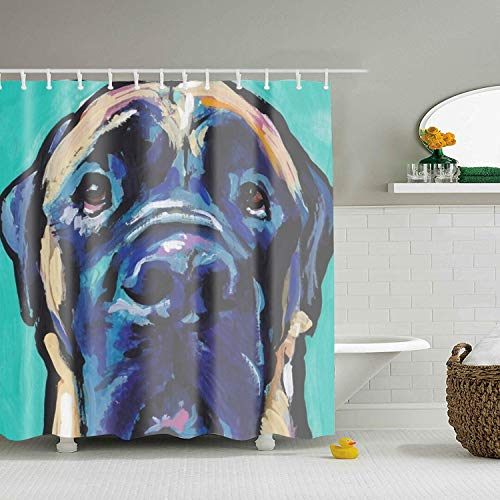 iff Bright Colorful Pop Dog Art Fabric Shower Curtain,Water Repellent and Mildew Resistant ()