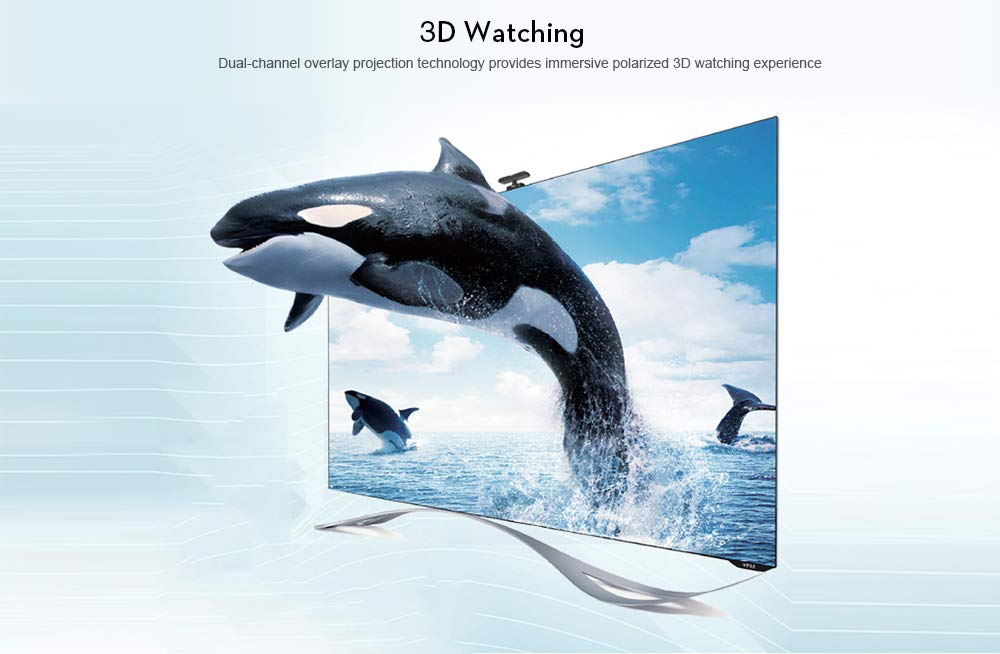 Amazon.com: WTTHCC - Proyector DLP (3500 lúmenes, 3LCD, 1280 ...