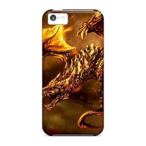 Diy iPhone 6 plus Awesome IFJ3797KNjw TianMao Defender Tpu Hard Case Cover For iPhone 6 plus- Gold Skin Dragon