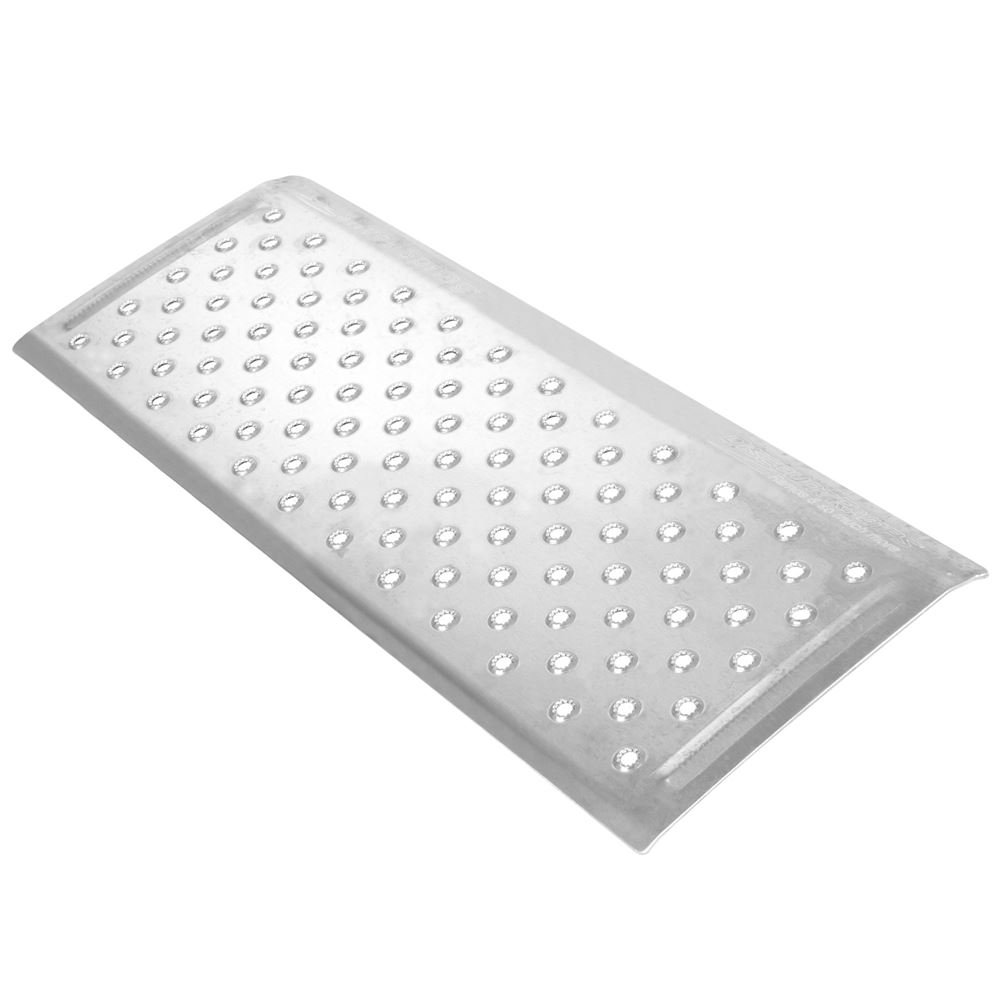 Silver Spring 2'' High Aluminum Threshold Ramp, Punch Plate Surface, 12'' L x 32'' W by Silver Spring