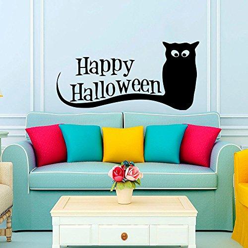 43SabrinaGill Wall Decal Halloween Vinyl Sticker Decals Art Home Decor Mural Owl Night Bird Horror Happy Halloween Wall Decal 38