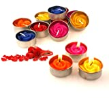 Relax spa shop® Rose Flower tealight candles , Floating Candles, Scented Tea Lights, Aromatherapy Relax (Pack of 10 Pcs.)