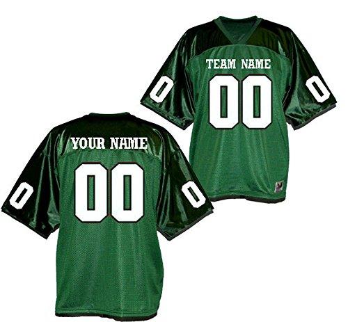 - OnTheField.com Custom Football Replica Team Jersey (XX-Large, Forest Green)