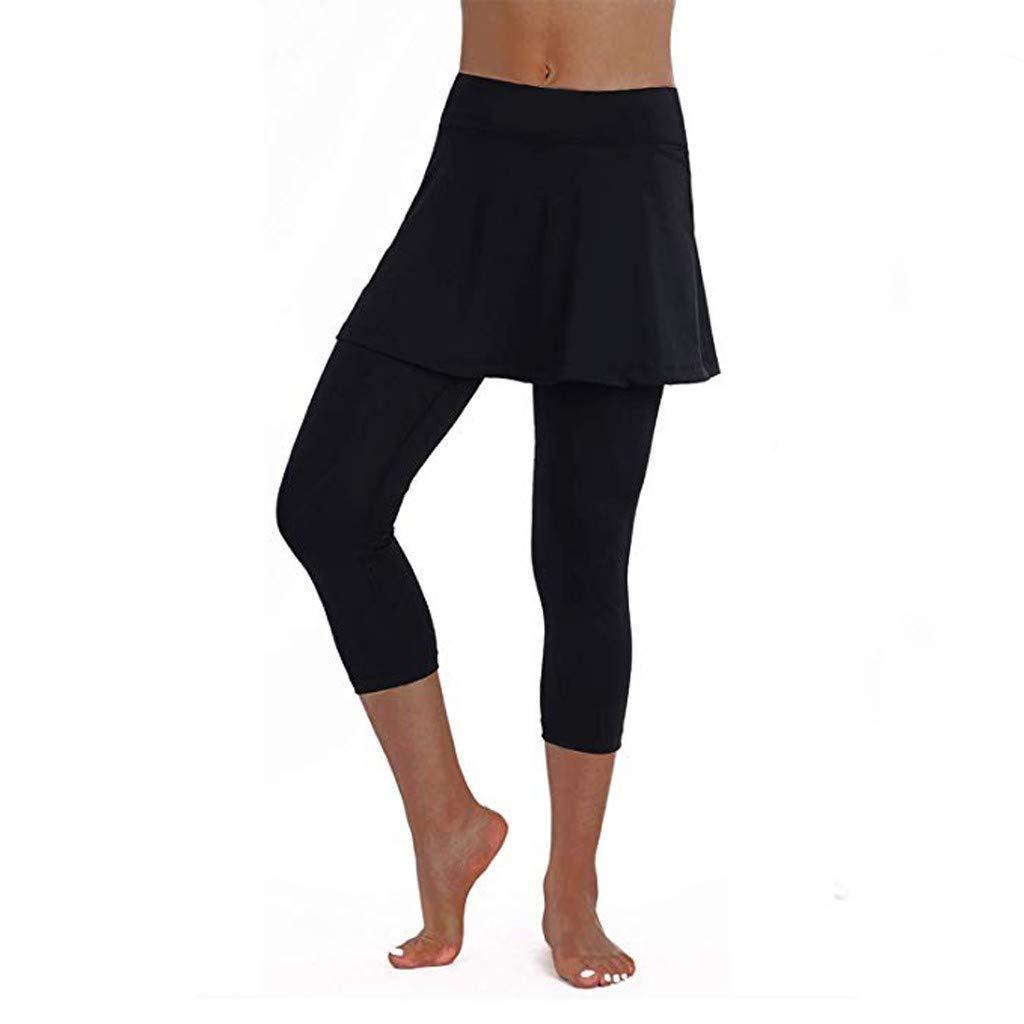 Pantalones Mujer Verano 2019 Largos Faldas Casuales Leggings Tenis Deportes Fitness Culottes Recortados Pantalones De Vestir Leggings De Yoga Danza Pantalon Deportivo Ropa Especializada Yoga Y Pilates