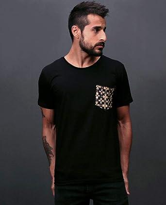 ebee0c51d4 Camiseta Pattern Pocket  Amazon.com.br  Amazon Moda