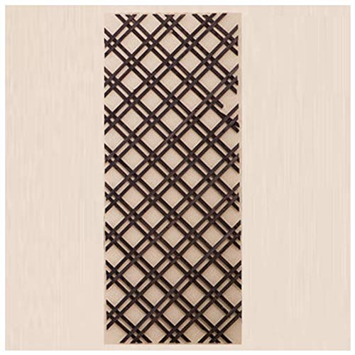 ZENGAI Garden Fence Solid Wood Wall Decoration Network Lattice Wood Fence Balcony Garden Plant Climbing Rimless, 2 Grids, 4 Colors, (Color : Brown, Size : -