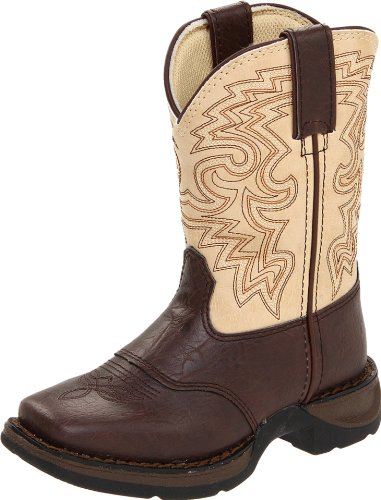 Durango Kids BT202 Lil' 8 Inch Saddle,Dark Brown/Tan,10.5 M