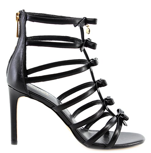 Tacon 40S8VRHA1L Black Kors Michael Mujeres Zapatos Leather Veronica Sandal De w86qz6Pt
