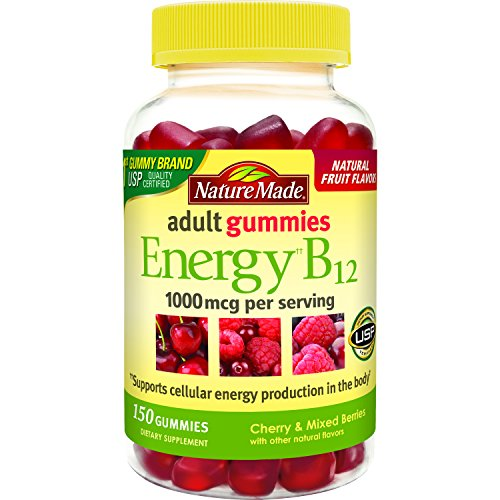 - Nature Made Energy B12 Adult Gummies (1,000 mcg  per serving) Value Size 150 Ct