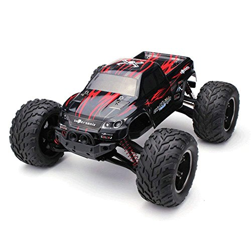 (RC Car 1:12 4WD High-Speed Off-Road Remote Control Car 50km/h 2.4GHz All Terrain Radio Remote Control Car,Red)
