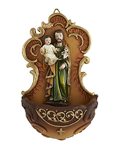 St. Joseph and Child Holy Water Font - 2/pk by AT001