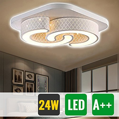 HG 72W LED Deckenlampe Markantes Design Badezimmer Lampe ...