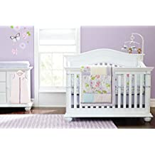 Baby Girls Dream Butterflly 9pcs Crib Cot Bedding Set with diaper stacker and changing pad cover