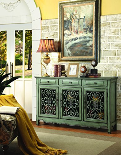 Penny Sofa Lane - 3-Door Accent Cabinet Antique Green