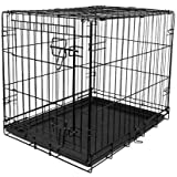 """VIBRANT LIFE Dog Folding Crate, 24"""" Small Single Door Kennel w/Divider (24.00 x 17.50 x 20.00 Inches)"""
