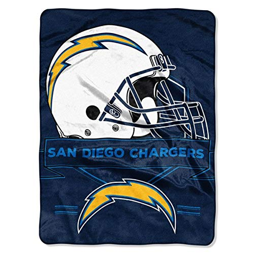 The Northwest Company NFL Los Angeles Chargers Royal Plush Raschel Throw, One Size, Multicolor