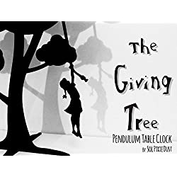 The Giving Tree - Girl with braid swinging - Silhouette Pendulum Table Clock