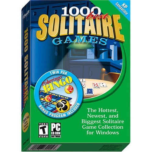 1000 Best Solitaire Games : The Hottest, Newest & Biggest Solitaire Game Collection For Windows ***BONUS - Twin Pack : Pokeringo Bingo INCLUDED***