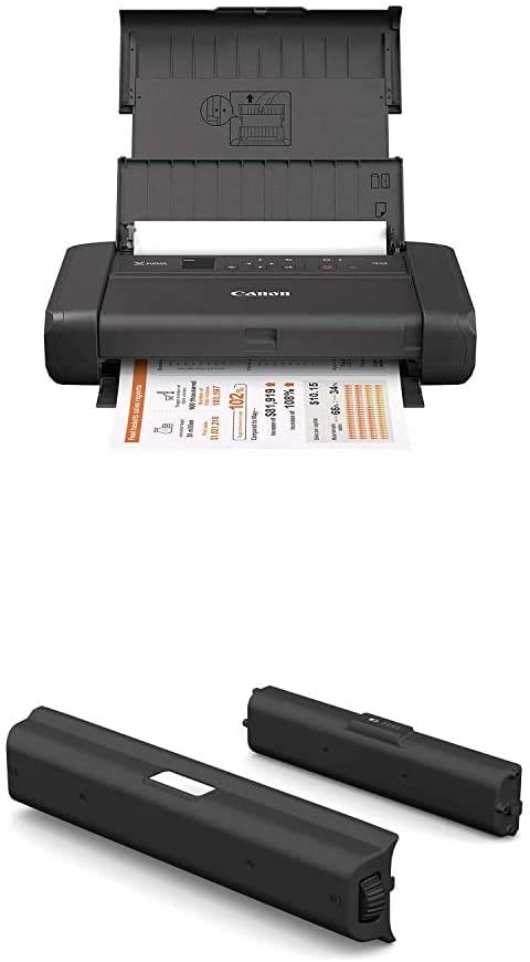 Canon PIXMA TR150 Wireless Mobile Printer with Airprint and Cloud Compatible, Black + Canon LK-72 Battery Pack, Compatibile to The Canon TR150 Mobile Printer