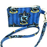 Ravenclaw Harry Potter ID Wallet Lanyard Badge Holder Cash and Coin Purse