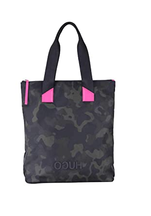 505bda5d09b36 HUGO BOSS Tasche RECORD SHOPPER-C Camouflage Muster anthrazit oliv ...