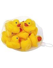 Schramm® 10er Pack Gummiente Gelb 5cm im Netz Badeente Bade Ente Enten Badeenten Gummienten