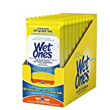 Wet Ones Antibacterial Hand Wipes, Citrus Scent, 20 Count (Pack of 10)