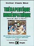 Thérapeutique homéopathique T.1