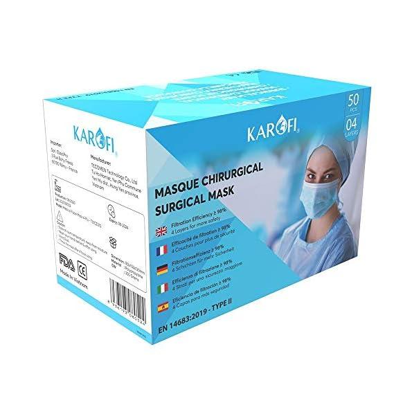KAROFI-Medizinisch-chirurgische-Masken-vom-TYP-II-geprft-und-zugelassen-BFE-98-4-Lagen-CE-Zertifiziert-nach-EN14683-2019-Box-50-Stck
