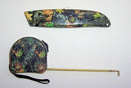 Dist By Classyjacs - 2 Piece - Utility Knife Set - Utility knife & Measuring Tape - (Camouflage Finish) m