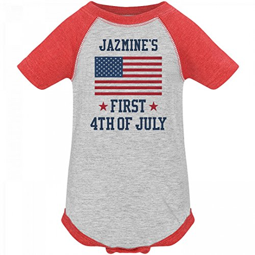 Jazmine's First 4th Of July Outfit: Infant Vintage Raglan Bodysuit (Jazmine Outfit)