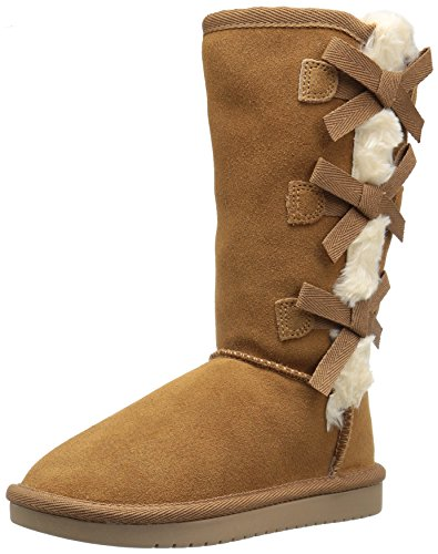 Koolaburra Chestnut Boots (Koolaburra by UGG Victoria Tall Fashion Boot, Chestnut, 01 Youth US Little Kid)