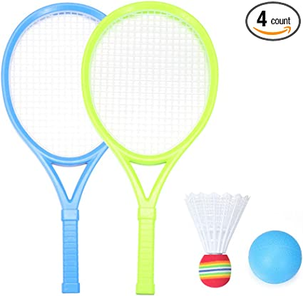 2 Player Badminton Rackets Ball Shuttlecock Set Outdoor Kids Child Playing Toy