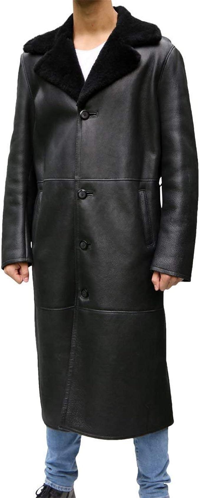 Hollert German Leather Fashion Lammfellmantel ADAM Herren
