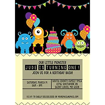 customized our little monster birthday invitation - Monster Birthday Party Invitations