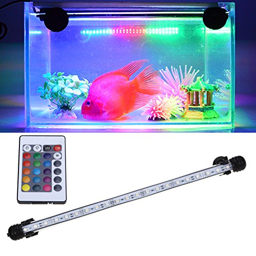 Pansupply Waterproof day/night acrylic US Plug 48 cm RGB LED Aquarium fish tank submersible light lamp remote - Leo Lionni Costumes