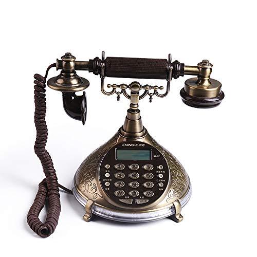 [해외]전화-골동품 전화 스탠드, 유럽의 빈티지 집 홈 사무실의 고정 전화, 핸 즈 프리 통화 전기적인 밝은 빛을 낸다; / Telephone-Antique telephone stand, European retro Home Office landline, hands-free call, bring electrical bright light;