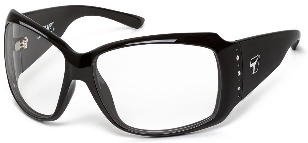 Women Full Wrap Rhinestone Sunglasse Night Driving Clear Lenses 7eye by Panoptx Natasha Sports Motorcycle Cycling Fashion Eyewear