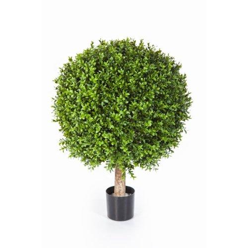 artplants Boule de buis artificiel TOM sur tronc, 1080 feuilles, 55 cm, Ø 40 cm – buis plastique/plante artificielle buis