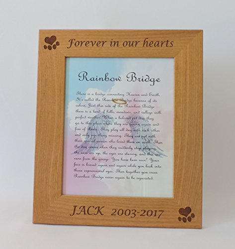 - Dog Memorial Picture Frame with Customized Engraving (8x10
