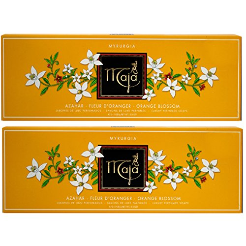 Price comparison product image Maja Azahar Soap Set (3 X 3.5 Oz./100g) 10.5 Oz. Total. Orange Blossom Fleur D' Oranger 2-PACK