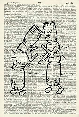 Christmas Crackers Art Print – Christmas Art Print – Xmas Illustration – Christmas Gift - Xmas Artwork - Vintage Dictionary Art Print - Book Page Print 57KLD