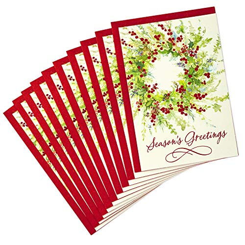 (Hallmark Holiday Cards Pack, Season's Greetings (10 Cards with Envelopes))